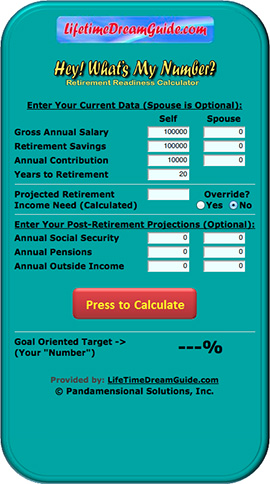 LifeTimeDreamGuide Retirement Readiness Calculator